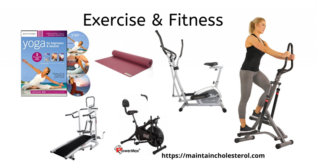 image of various equipments for exercise and fitness